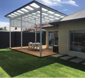 Fresh deck and modern pergola